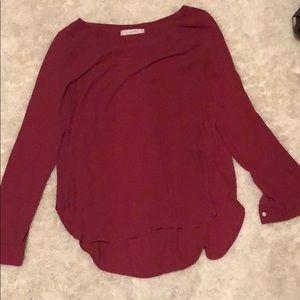 LOFT purpley pink blouse